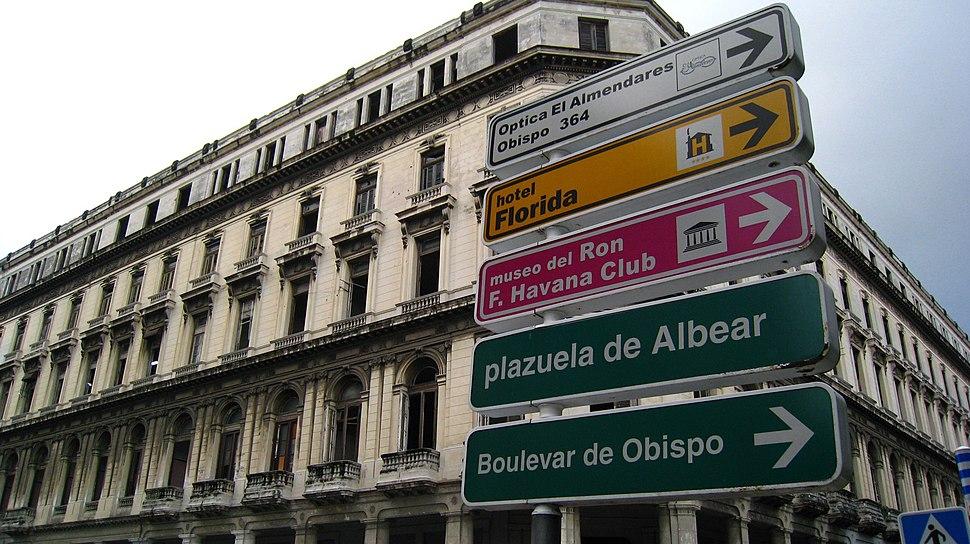 Building across Parque Central
