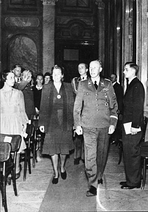 Lina Heydrich - In Prague, the day before the attack that led to his death, Reinhard Heydrich and wife Lina attend a concert of Richard Bruno Heydrich's music in the Waldstein Palace, May 26, 1942.