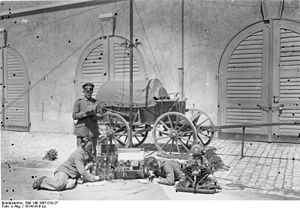 Telegraph troops - Signallers with an army field wagon, 1914