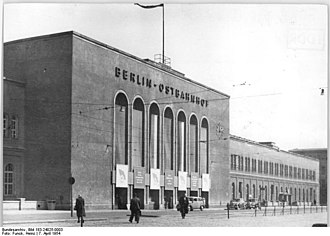 Berlin Ostbahnhof - The Ostbanhof after its reconstruction following WWII (1954)