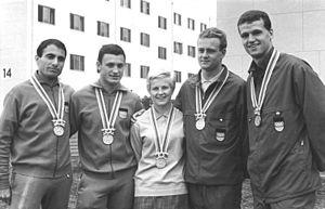 Dieter Lindner (racewalker) - Image: Bundesarchiv Bild 183 C1017 0001 019, Tokio, XVIII. Olympiade, Ingrid Krämer