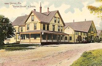 Union, Maine - Image: Burton House & Stable, Union, ME