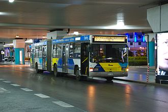 Athens Mass Transit System - Image: Bus at Athens Airport (line X95)