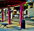 Bus station electronic board Nicosia Republic of Cyprus Kypros.jpg
