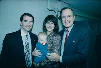 Rob Portman - Portman with President George H. W. Bush in 1990