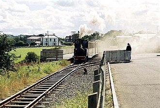 Bushmills - Bushmills Station with a steam locomotive on the 3 ft gauge track.