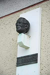 Bust of Jan Zahradníček in Mastník, Třebíč District.JPG