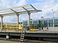 Butterfly canopy under construction at Boston Landing station, August 2016.JPG