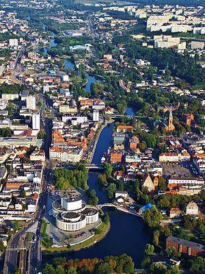 Brda (river) - Brda flowing through Bydgoszcz.