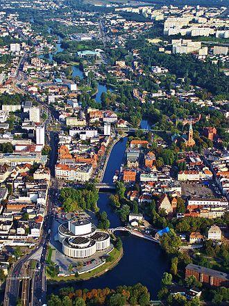 Brda (river) - Brda flowing through Bydgoszcz