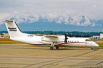 C-GHQZ DHC Dash 8-314 Voyageur Aws YVR 09JUL04 (11704845674).jpg