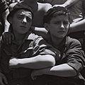 "CHILDREN WITH THE AUSCHWITZ CAMP NUMBER ON THEIR ARMS ON BOARD THE ""MATAROA"" IN HAIFA PORT. יהודים, ניצולי שואה ממחנה אושוויץ, מגיעים לנמל חיפה על גביD820-069.jpg"