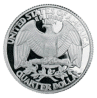 Quarter (United States coin) - The reverse prior to the State Quarter Program