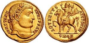 Solidus (coin) - Image: CONSTANTINUS I RIC VII 48 651049