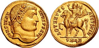 gold coin issued in the Late Roman Empire