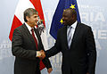 CTBTO Executive Secretary Lassina Zerbo and Austrian Vice Chancellor Michael Spindelegger met in Vienna on 25 November 2013 (11063749705).jpg
