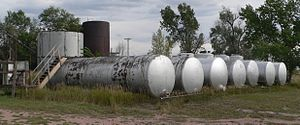 National Register of Historic Places listings in Niobrara County, Wyoming - Image: C and H Refinery (Lusk, Wyoming) (10)
