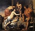 Caesar van Everdingen - Nymphs Offering the Young Bacchus Wine, Fruit and Flowers - WGA07573.jpg