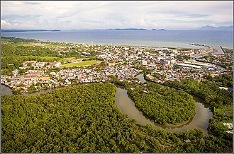 Calbayog - Aerial view of Calbayog