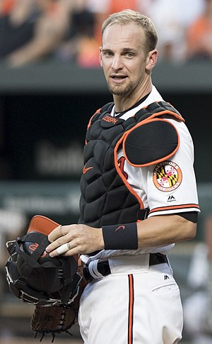 Caleb Joseph - Joseph with the Baltimore Orioles
