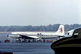 Caledonian Airways - Caledonian Douglas DC-6B G-ASRZ in the original scheme at Berlin Tempelhof in June 1964