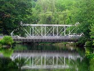 Hunterdon County, New Jersey - The bridge over the South Branch of the Raritan River in Califon.