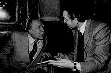 Borges con Riccardo Campa (Roma, 1983)