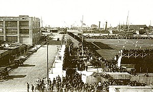 Club Atlético River Plate - The stadium built by River Plate in La Boca. The club played its home games there from 1915 to 1923.
