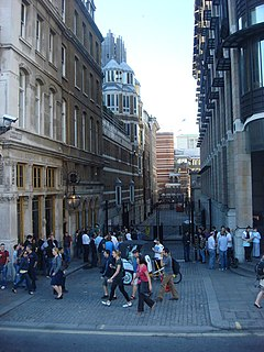 Canon Row street in the City of Westminster in London