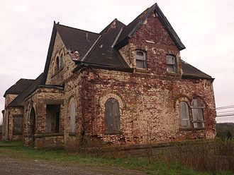 Canso, Nova Scotia - This aging cable building, now a historic site, received the first distress call from Titanic in 1912