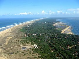 An aerial view of Cap-Ferret
