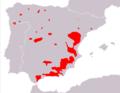 Capra pyrenaica range Map.png