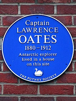 Captain lawrence oates 1880 1912 antarctic explorer lived in a house on this site