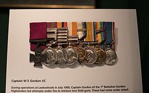 William Eagleson Gordon - Gordon's medals displayed at the Gordon Highlanders Museum.