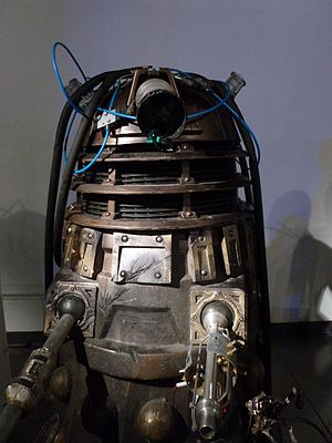 Into the Dalek - The damaged Dalek in this episode, on display at the Doctor Who Experience.