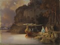 Carl's Cliff. View of Edsviken (Johan Christoffer Boklund) - Nationalmuseum - 21806.tif
