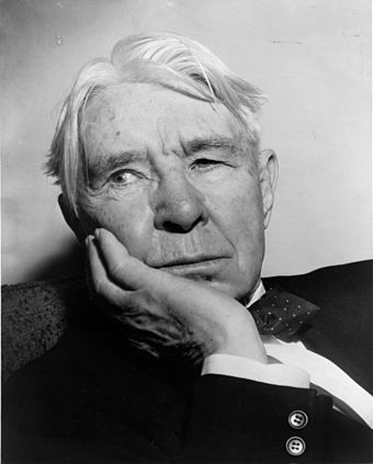 "Carl Sandburg's most famous description of the city is as ""Hog Butcher for the World/Tool Maker, Stacker of Wheat/ Player with Railroads and the Nation's Freight Handler,/ Stormy, Husky, Brawling, City of the Big Shoulders."" Carl Sandburg NYWTS.jpg"