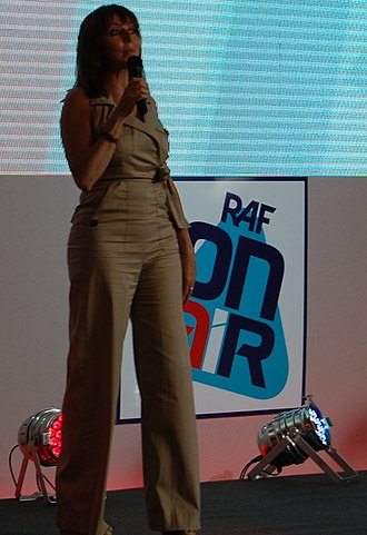 Carol Vorderman - Vorderman presenting an RAF Association show in July 2011