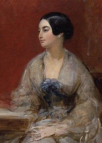 Caroline Norton - Caroline Norton, detail of a portrait by Frank Stone, circa 1845