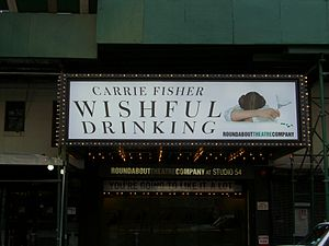 Carrie Fisher's Wishful Drinking played at Stu...