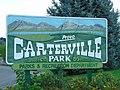 Carterville Park sign, Provo, Utah, Aug 16.jpg