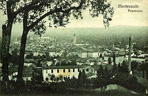 Montevarchi - Montevarchi at the beginning of the 20th century.