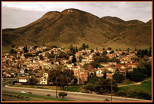 Newbury Park, California - Casa Conejo as seen from Rabbit Hill in Knoll Park.