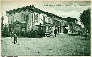 Cantono Frigerio system - Image: Castellammare Adriatico Corso Vittorio Emanuele cartolina