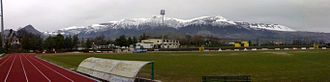 Castrovillari - The massif of Pollino   seen from Mimmo Rende Stadium