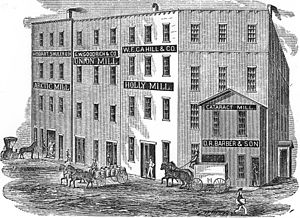 Charles M. Loring - Flour leaving the Holly Mill, 1870s