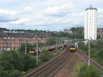Cathcart Circle Lines - Class 314s at Cathcart North Junction in 2011
