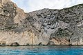 Caves on the coast of Zakynthos, in the Ionian Islands of Greece (32597801978).jpg