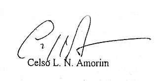 Celso Amorim - Image: Celso Amorim signatute