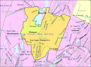 Wanaque, New Jersey - Image: Census Bureau map of Wanaque, New Jersey